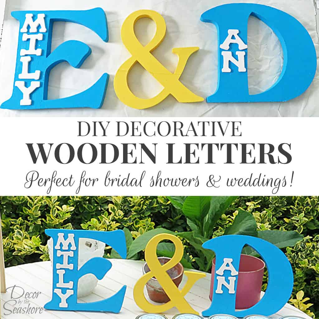 DIY Decorative Wooden Letters Tutorial