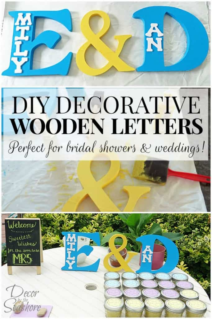 How to Make DIY Decorative Wooden Letters Tutorial