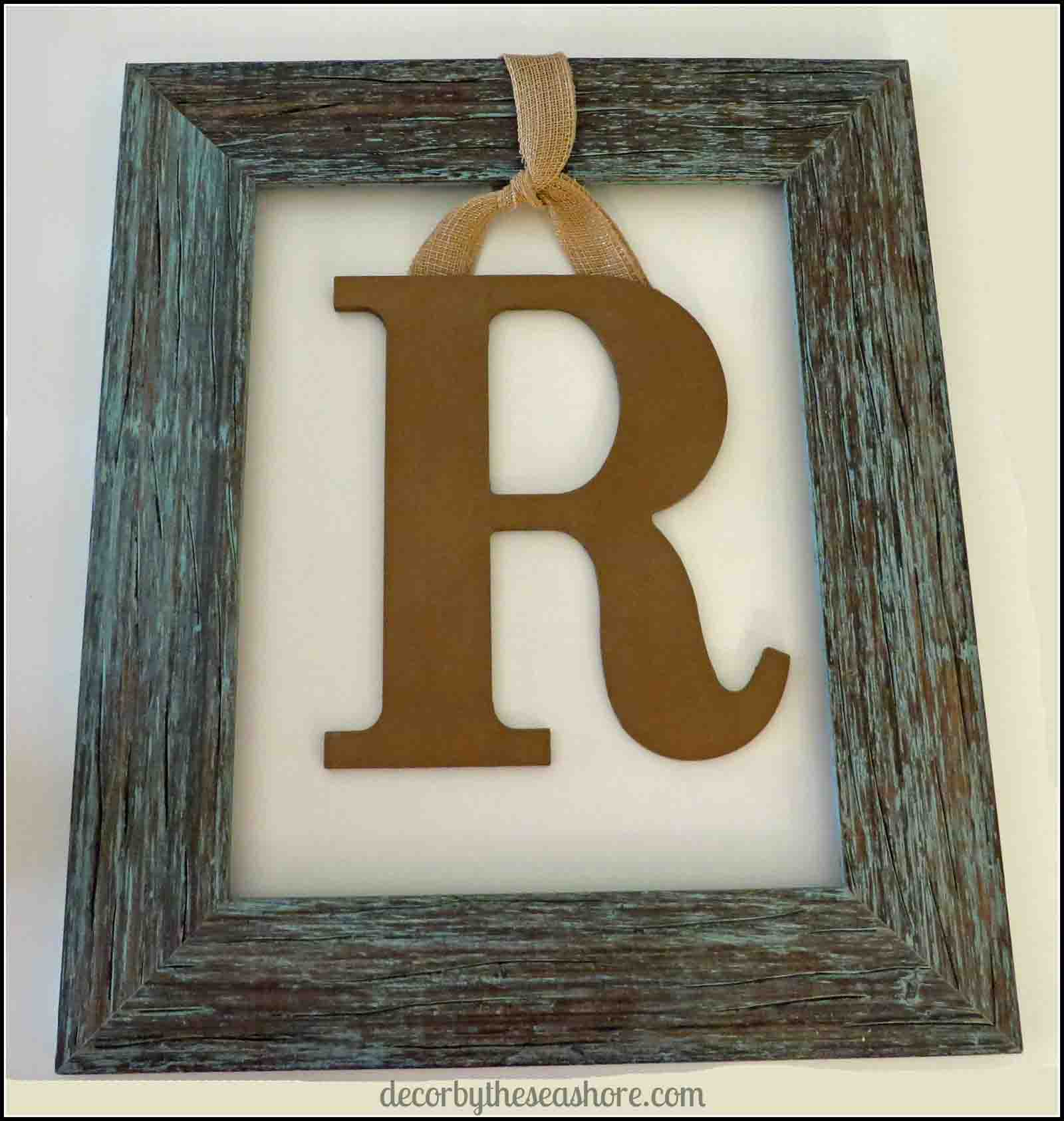 Framed Monogram Finished- Decor by the Seashore