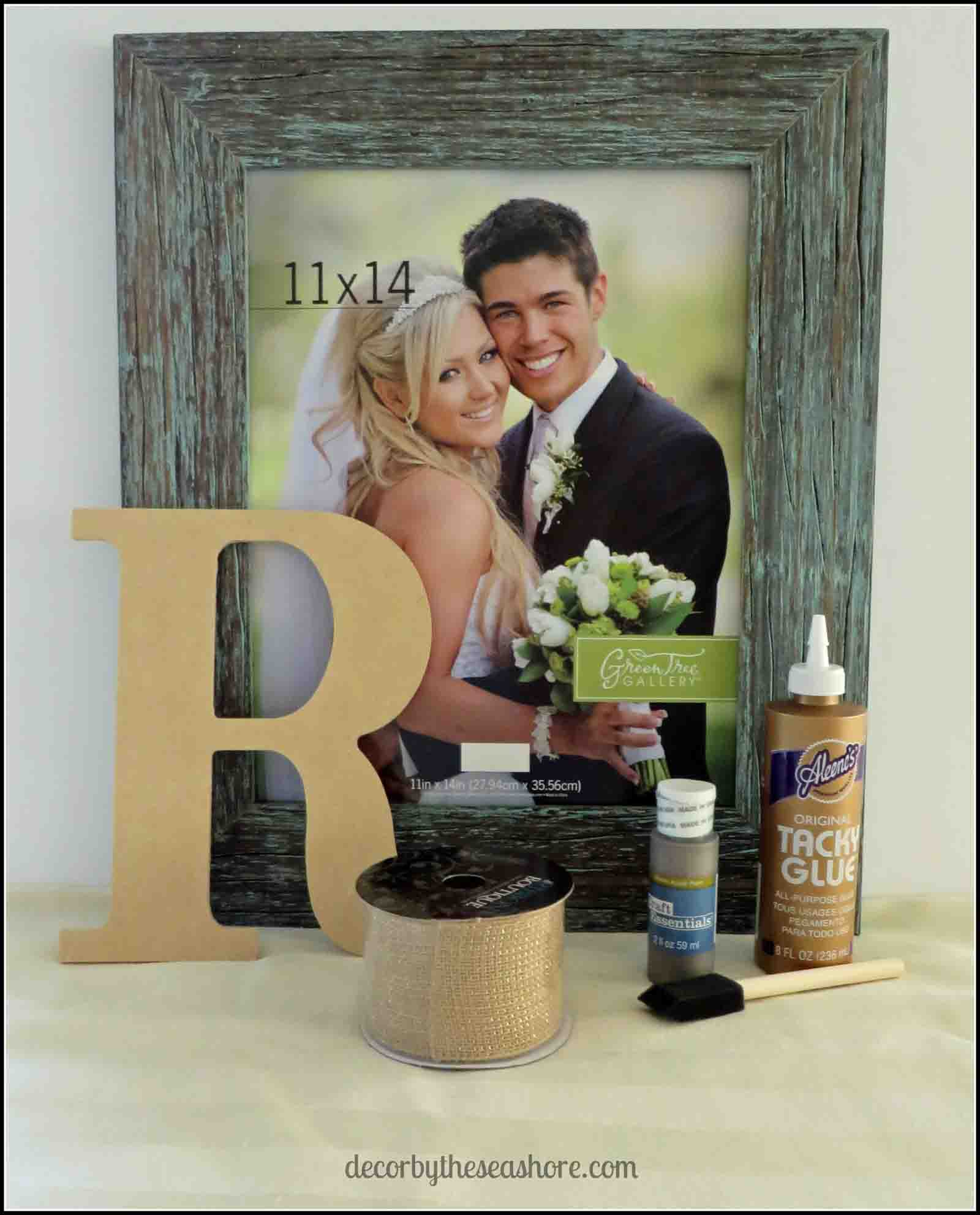 Framed Monogram Supplies- Decor by the Seashore