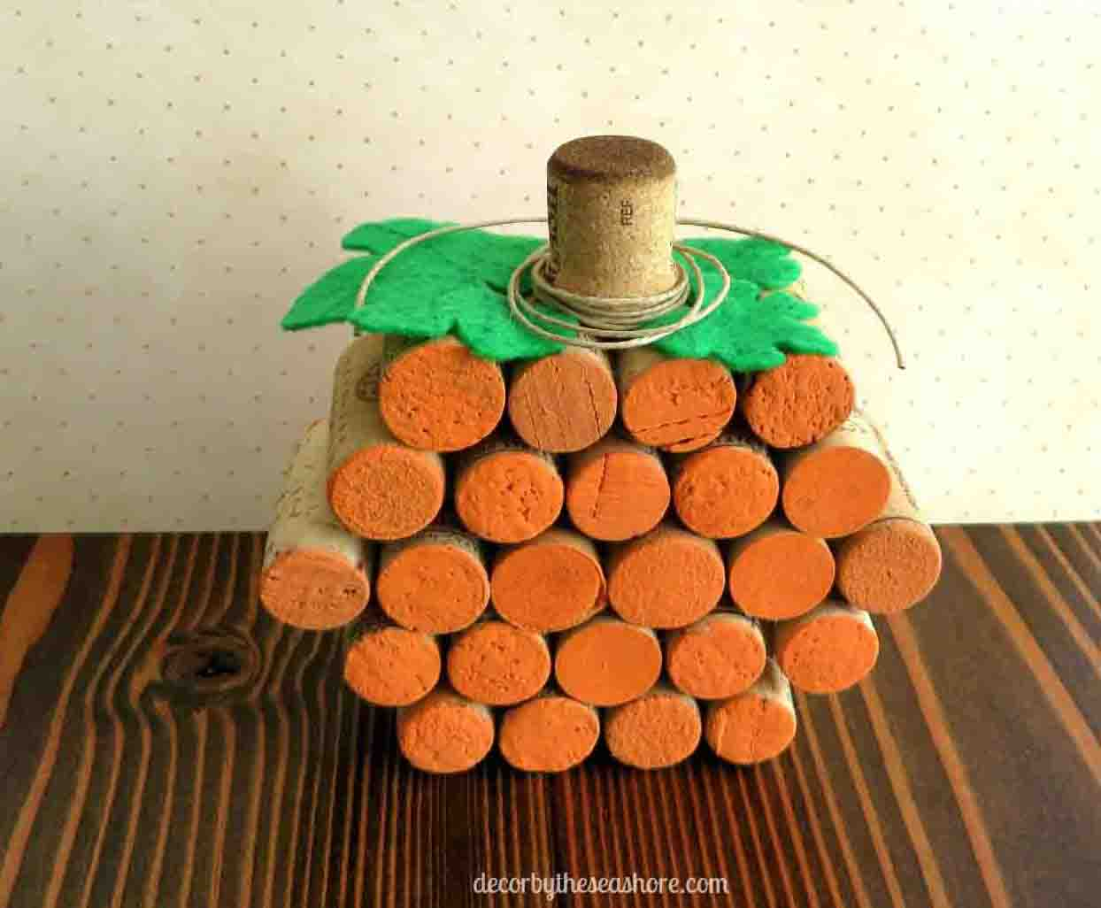 DIY Wine Cork Pumpkin