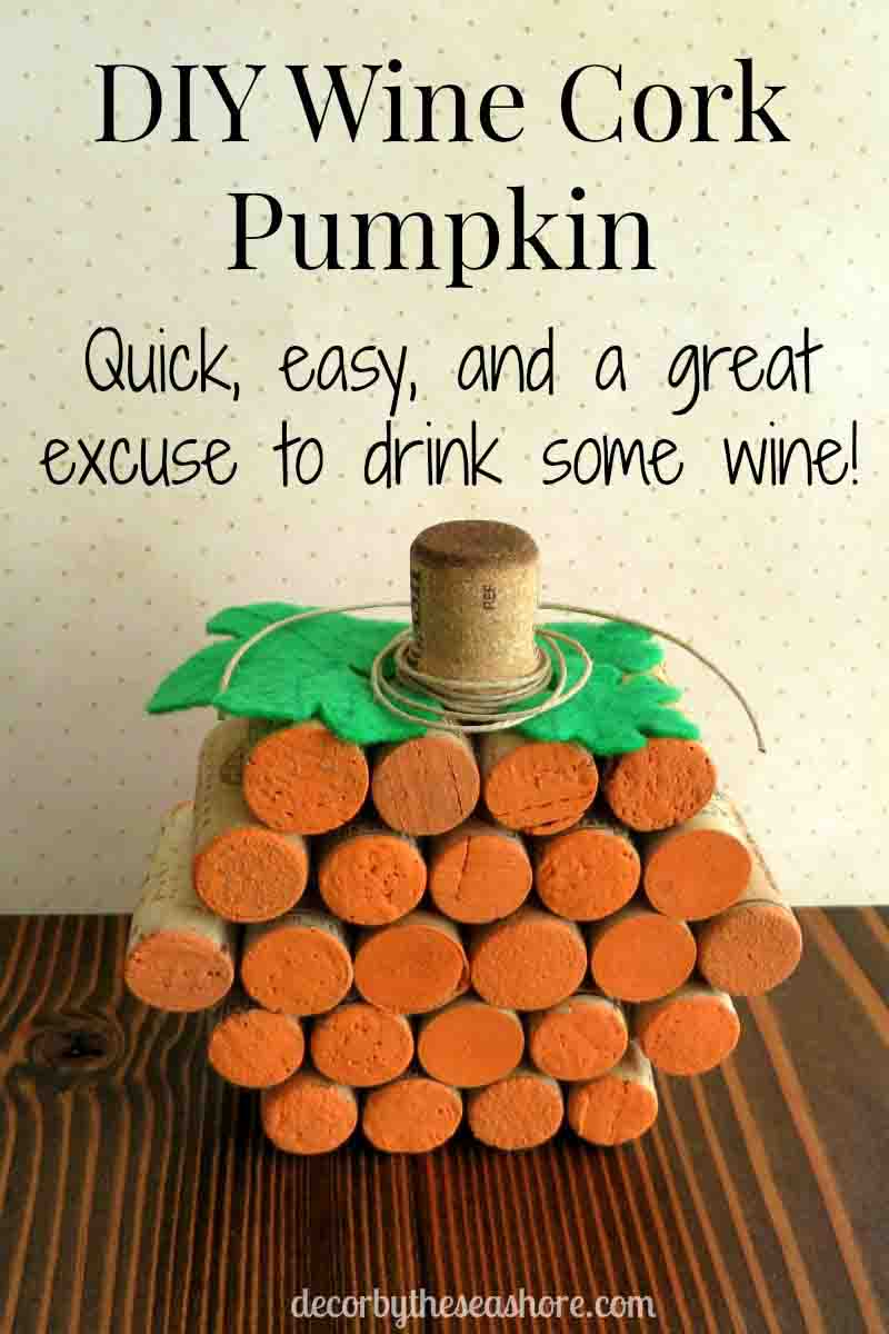 Wine Cork Pumpkin Vertical Header