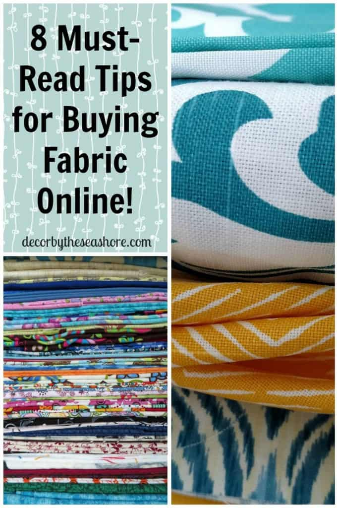 Buying fabric online can be such a hassle when you can't see it in person first! Don't buy fabric for your next project without checking out these helpful tips first! | decorbytheseashore.com