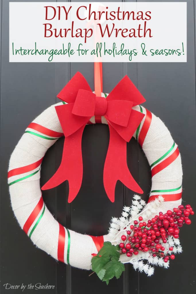 this easy diy christmas burlap wreath will make your home look fabulous in time for christmas - Christmas Burlap Wreath