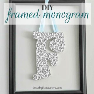 Framed Monogram Tutorial