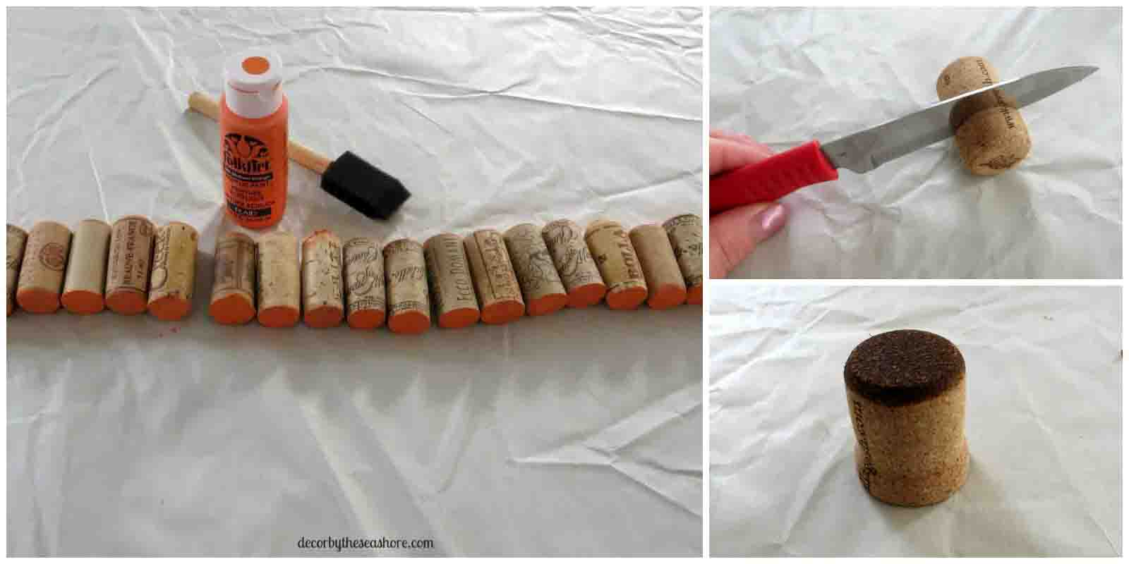 What better way to welcome fall than with a DIY wine cork pumpkin? I can never get enough of these adorable wine cork crafts, and this one is the perfect addition to my fall decor!   decorbytheseashore.com