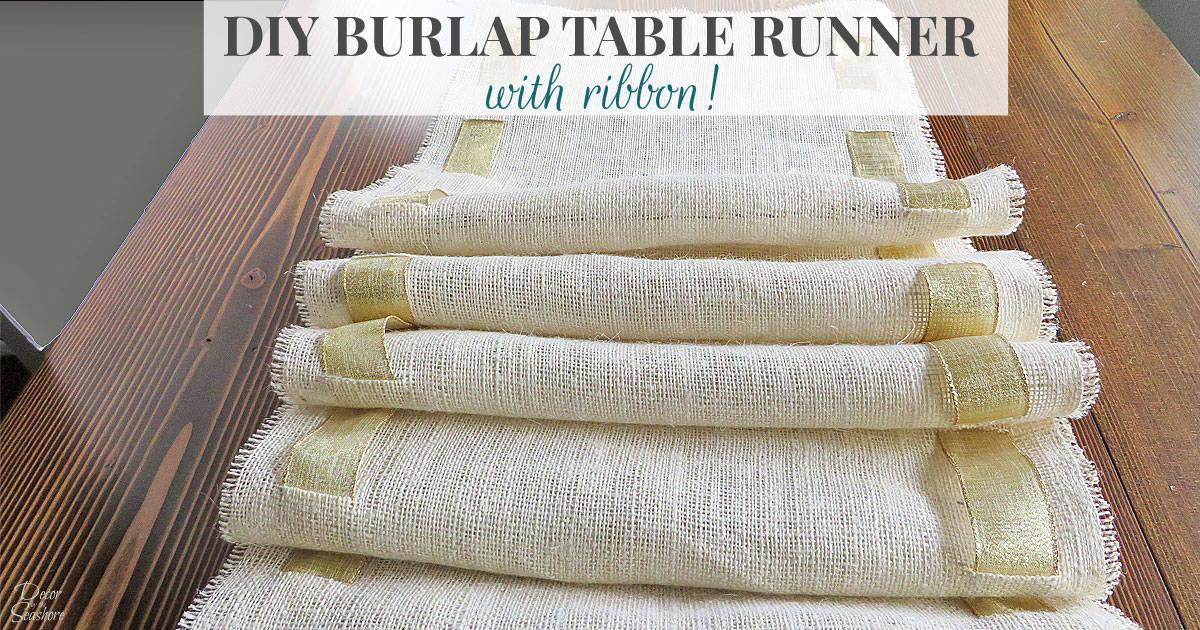 DIY Burlap Table Runne...