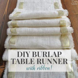 DIY Burlap Table Runner Tutorial