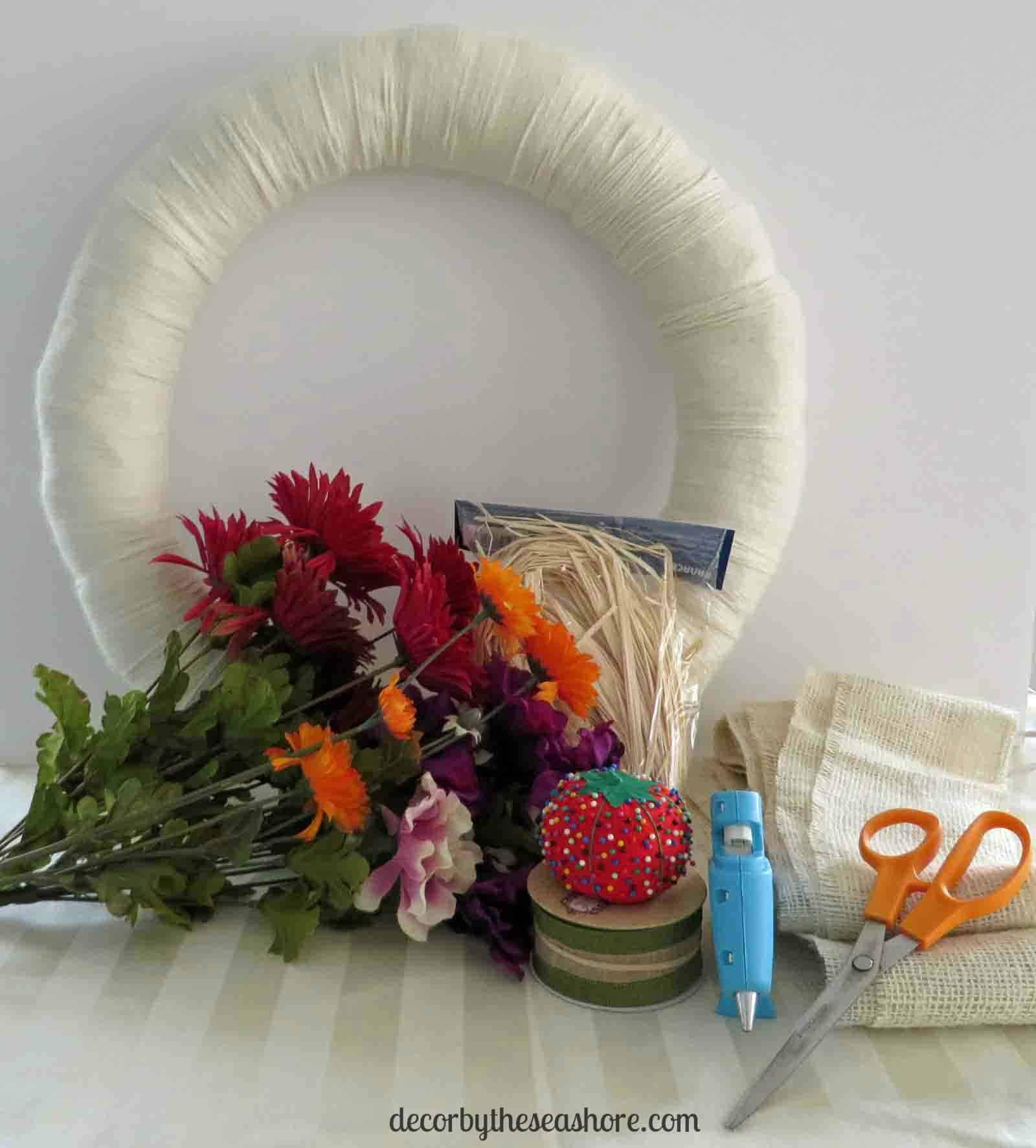 Fall Burlap Wreath Supplies