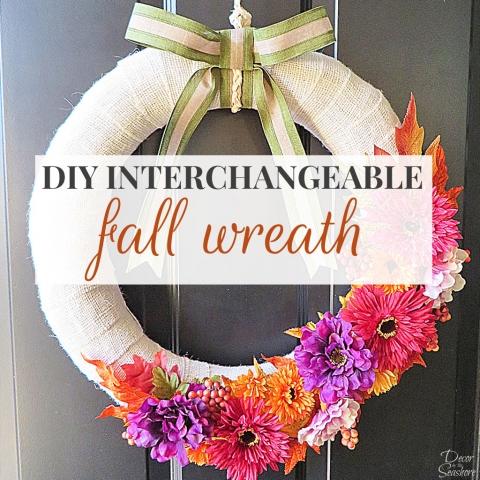 DIY Interchangeable Fall Wreath