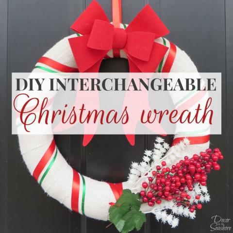 DIY Interchangeable Christmas Wreath