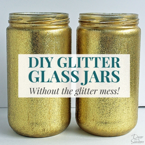 DIY Glitter Glass Jars
