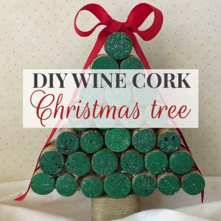 DIY Wine Cork Christmas Tree Tutorial