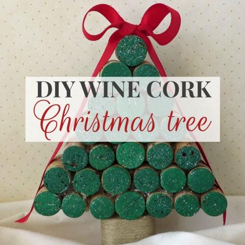 DIY Wine Cork Christmas Tree