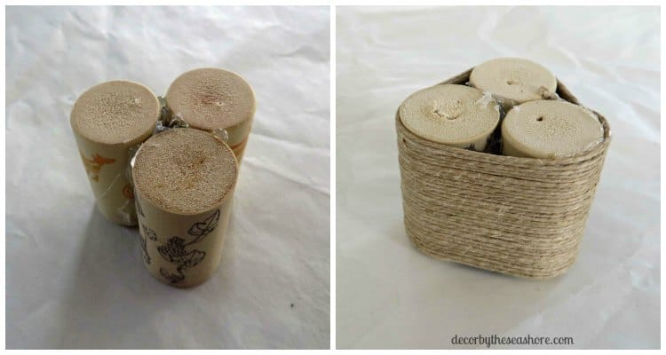 Create this gorgeous DIY wine cork Christmas tree for your home with this quick and easy tutorial! It will make a fabulous addition to your Christmas decor and a great gift for friends and family! | decorbytheseashore.com