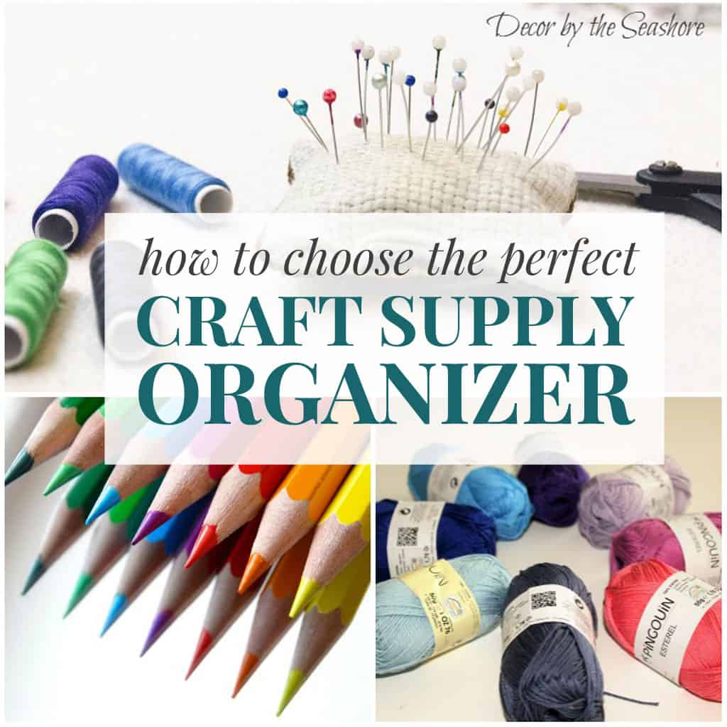 Finding the perfect craft supply storage can be such a pain. This is so helpful for figuring out how to store your craft supplies and choose the perfect craft supply organizer for your space! | decorbytheseashore.com