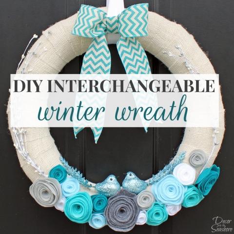 DIY Interchangeable Winter Wreath