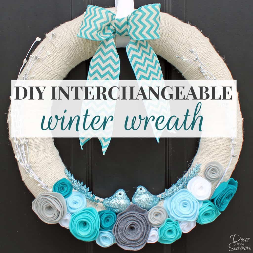 DIY Winter Burlap Wreath Tutorial