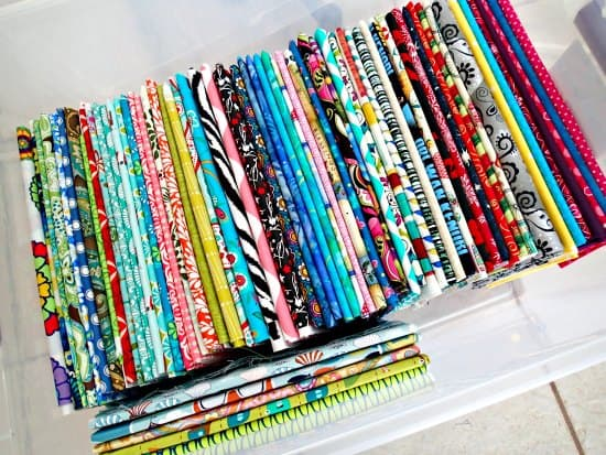 Organized and Folded Fabric- So Sew Easy