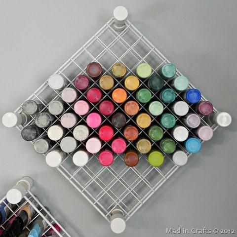 Paint Storage Wire Rack- Mad in Crafts