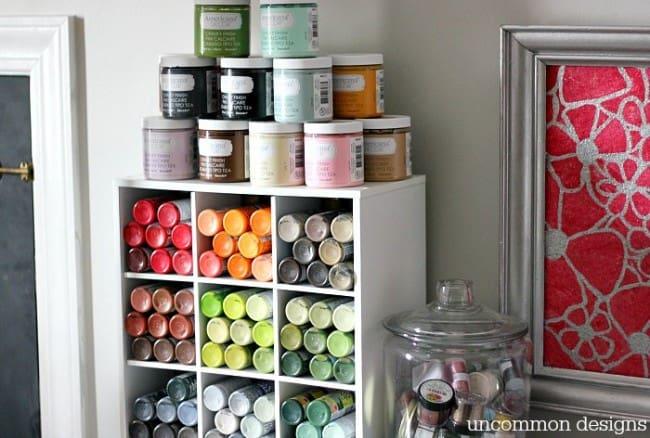 Paint Storage Shelf- Uncommon Designs