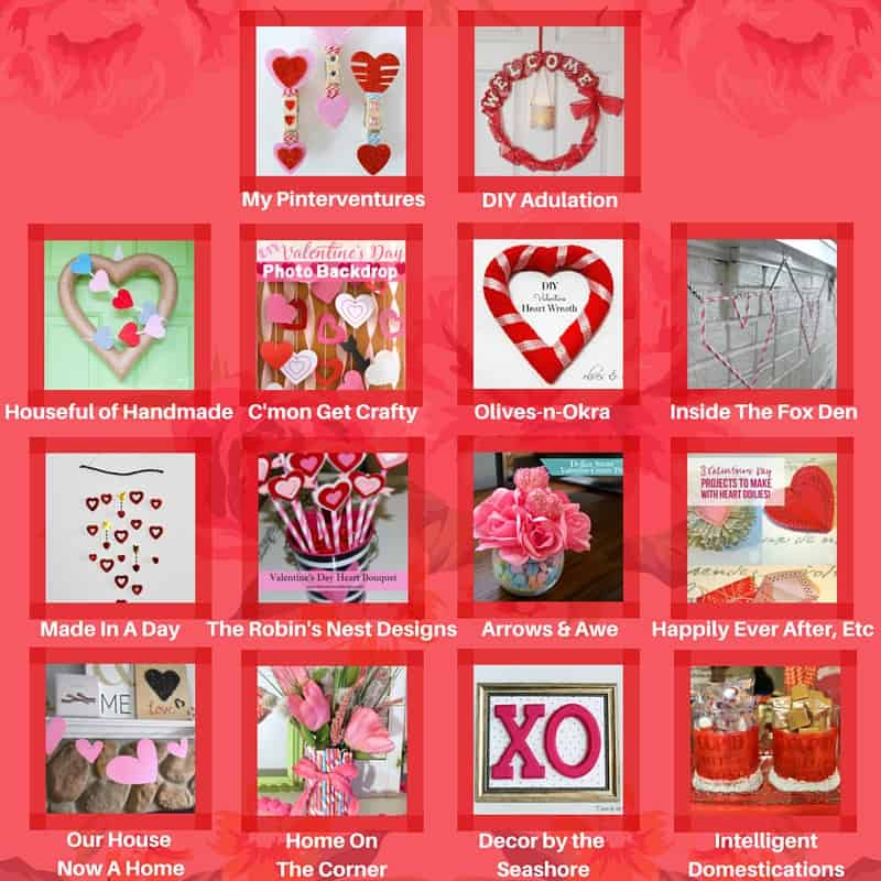 Check out this blog hop for some fabulous budget-friendly DIY Valentine's Day crafts! You'll never believe these crafts cost $10 or less! | decorbytheseashore.com