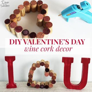 DIY Valentine's Day Wine Cork Heart Tutorial