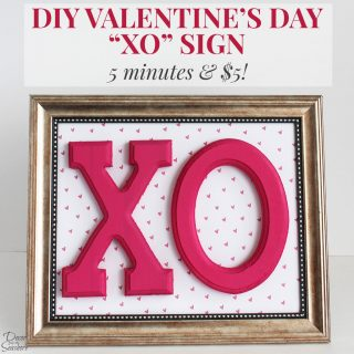 Quick and Easy Valentine's Day Sign + Blog Hop