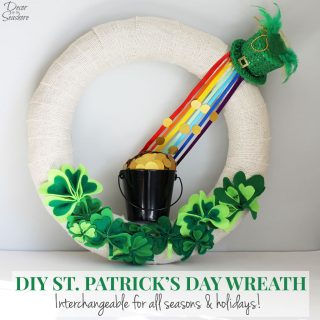 DIY St. Patrick's Day Burlap Wreath Tutorial