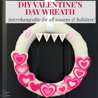 DIY Valentine's Day Burlap Wreath Tutorial