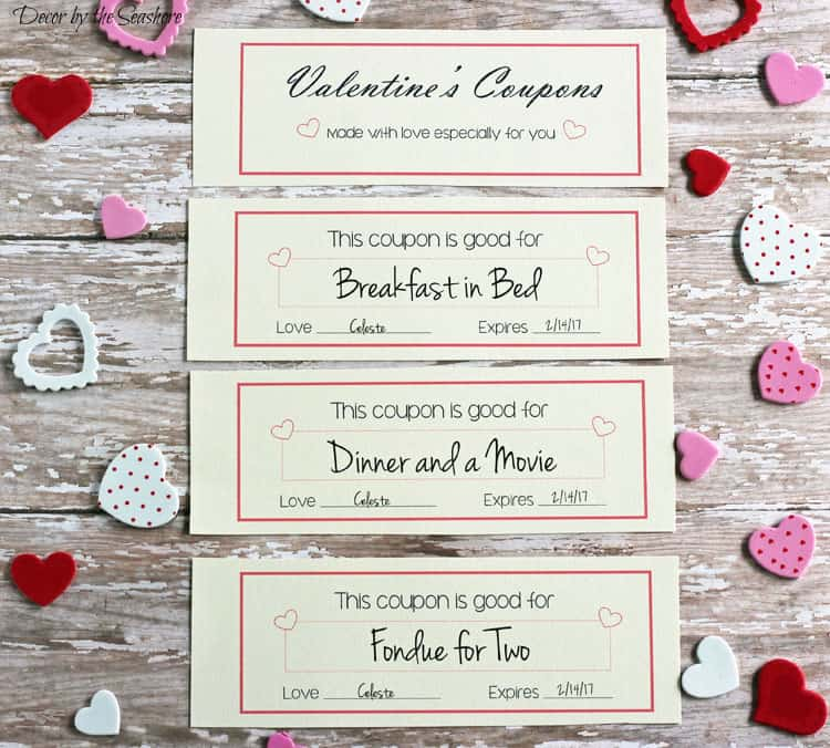 Free ValentineS Day Coupons  Decor By The Seashore