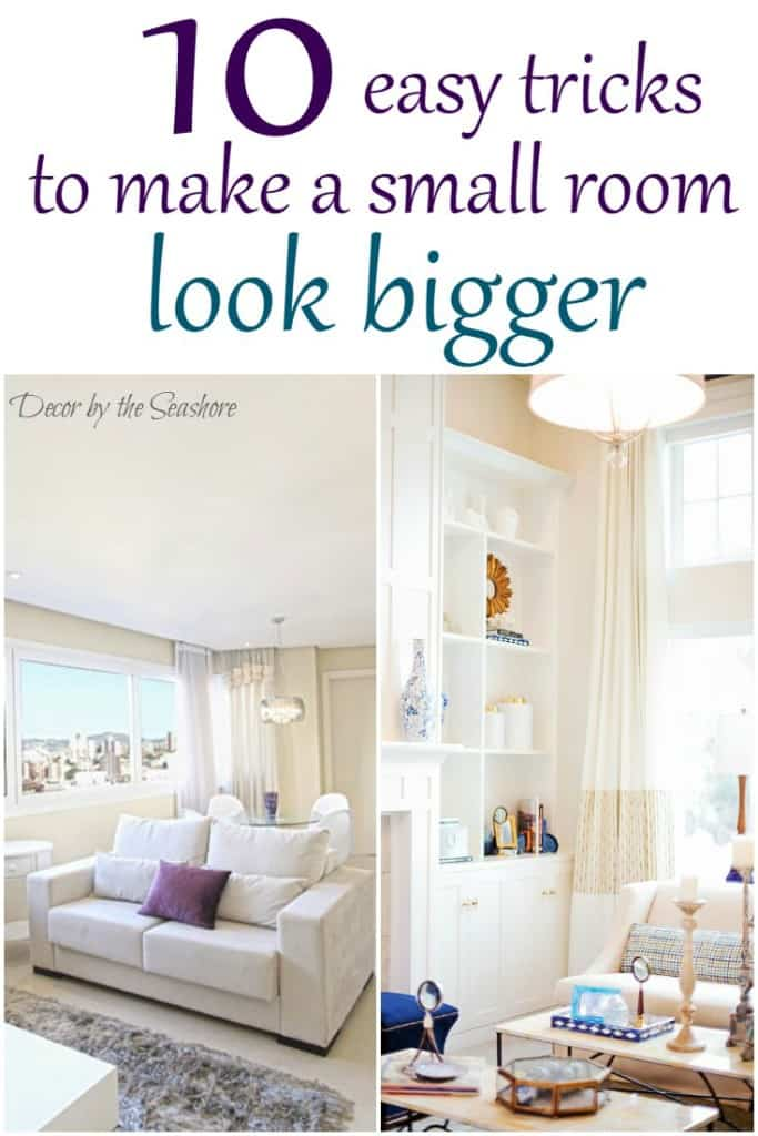 how to make a small room look bigger - decorthe seashore