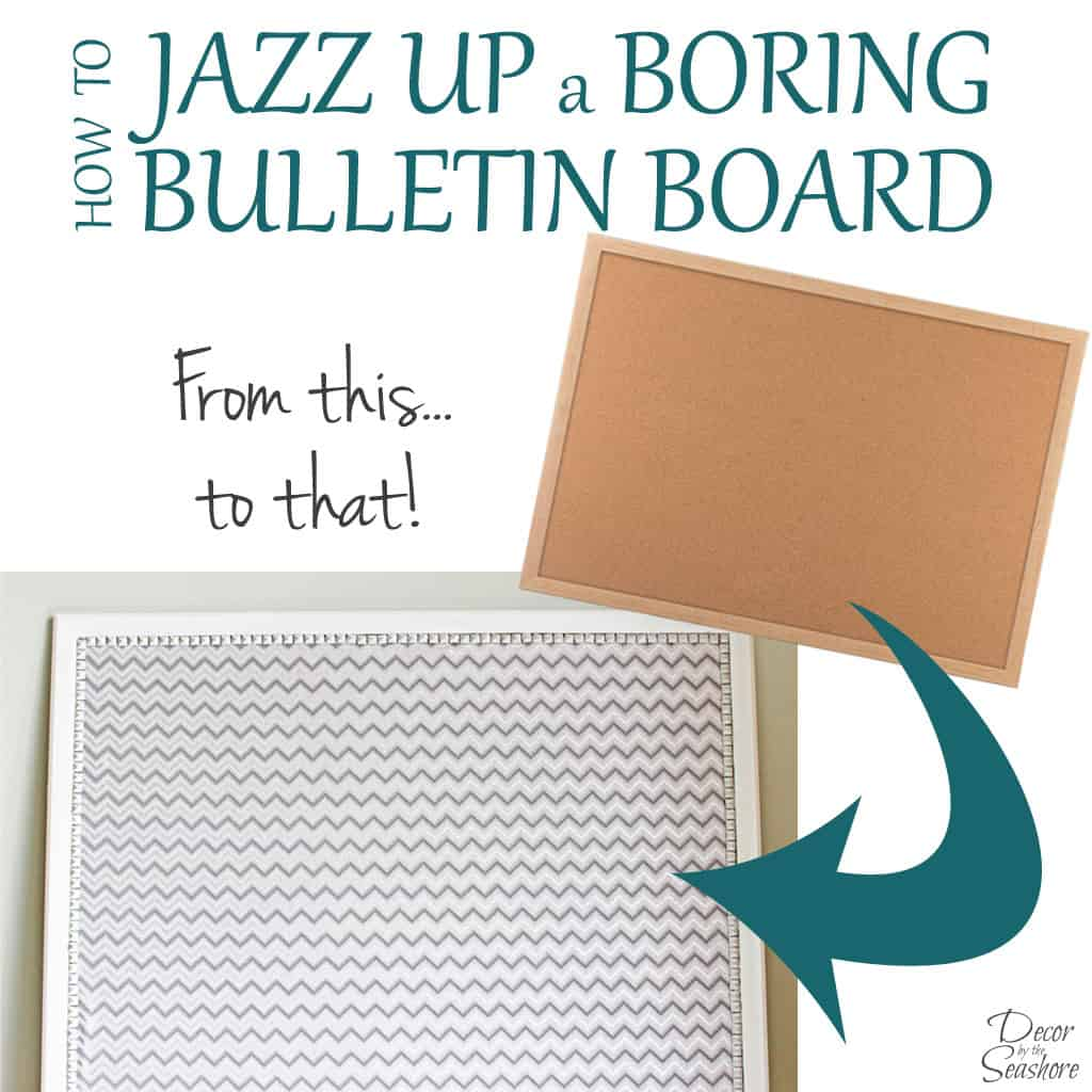 DIY Fabric-Covered Bulletin Board