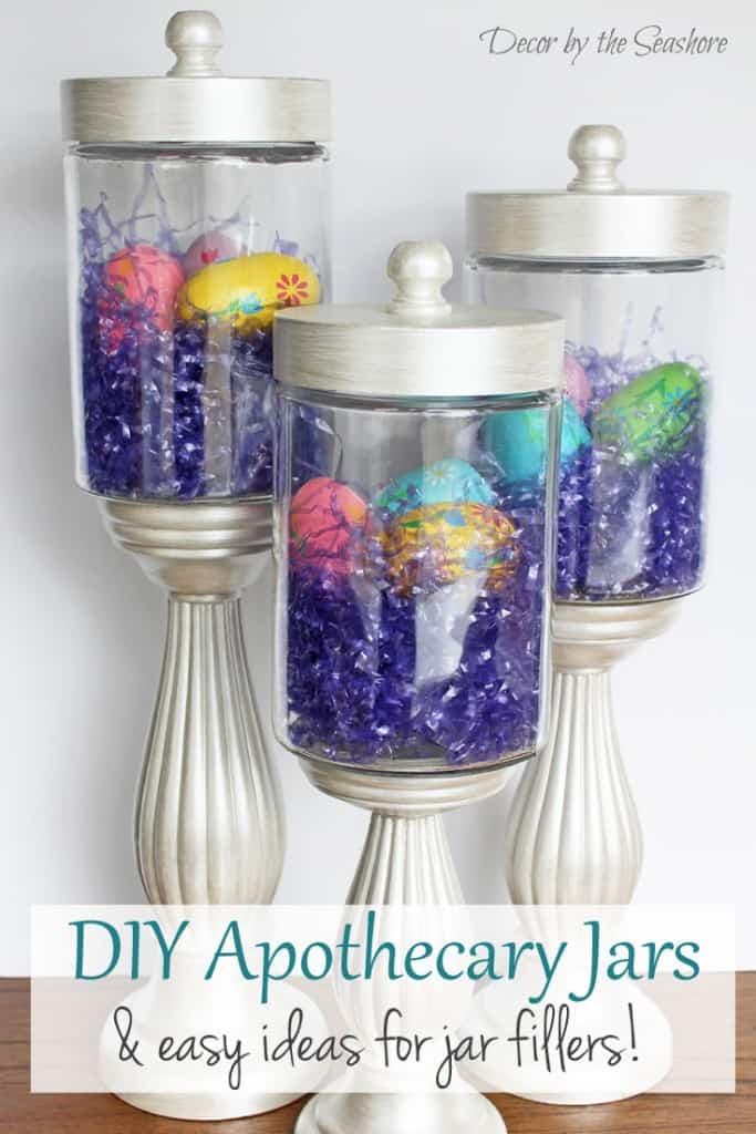 Diy Apothecary Jars Tutorial Decor By The Seashore