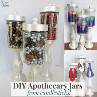 DIY Apothecary Jars Tutorial
