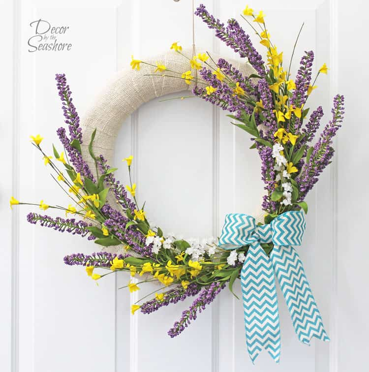 Diy Interchangeable Spring Wreath Tutorial Decor By The