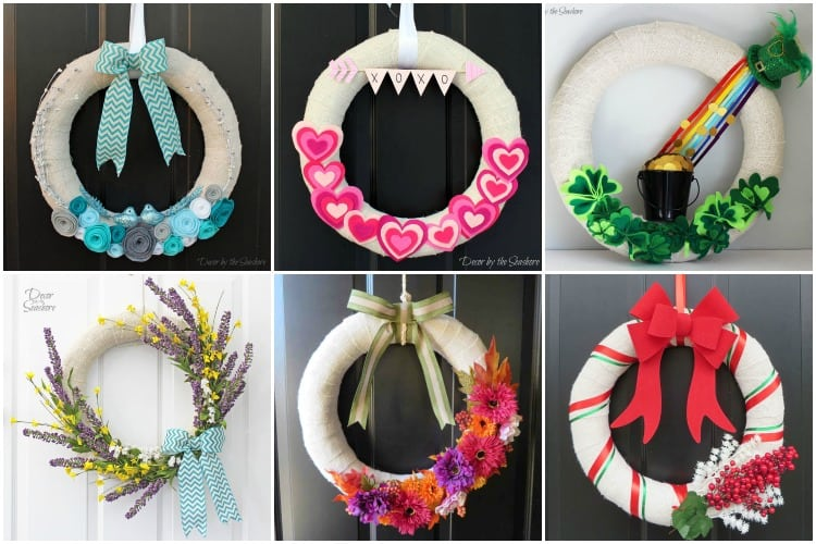 This is a GENIUS way to hang a wreath without damaging the door! I love to have a wreath on my front door for every holiday, and I can't believe I didn't figure this out sooner! | decorbytheseashore.com