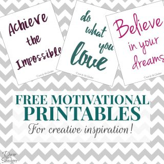 Free Motivational Printables to Inspire Creativity