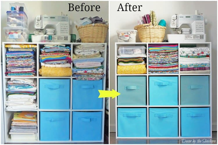 how to store your craft supplies in a small space - decorthe