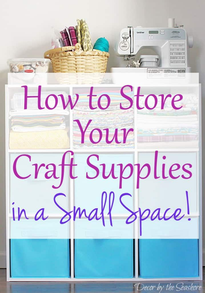 How to store your craft supplies in a small space decor by the seashore - Making use of small spaces decor ...