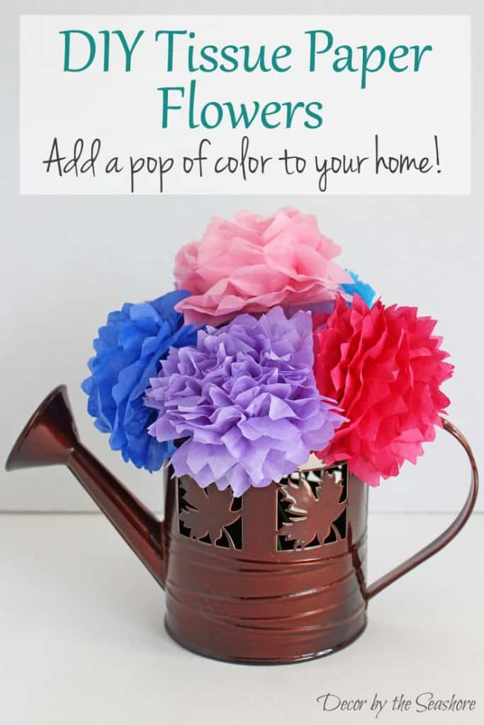 Diy tissue paper flowers tutorial decor by the seashore these diy tissue paper flowers are so easy to make and you probably already have mightylinksfo