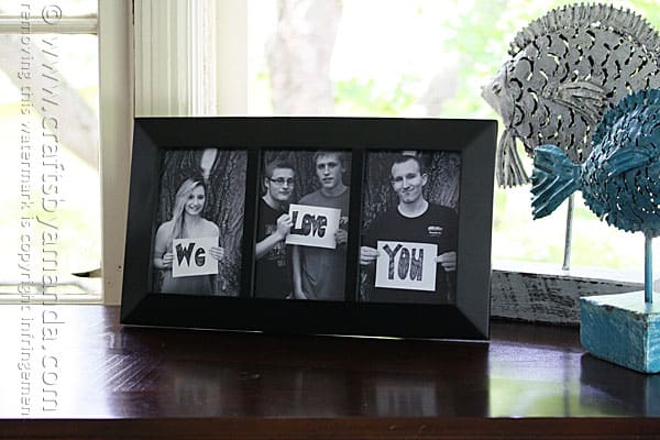 Crafts by Amanda- We Love You Photo Frame