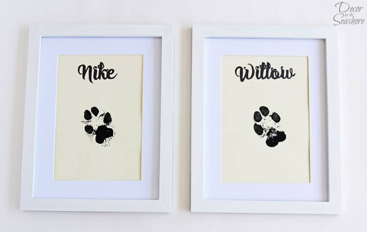 Diy Paw Print Wall Art Decor By The Seashore