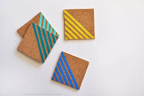Delineate Your Dwelling- Striped Coasters