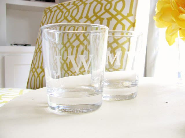 DIY Etched Glasses- Happy Happy Nester