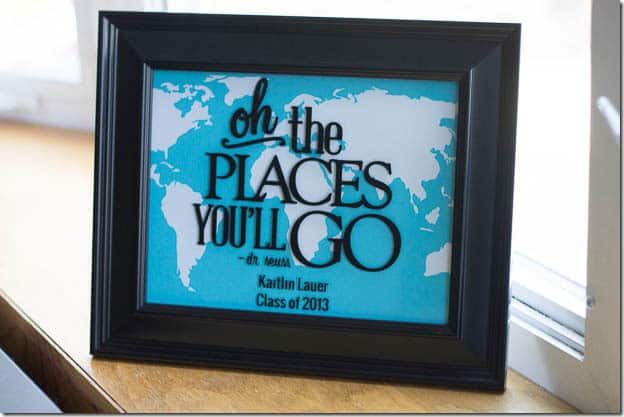 Oh the Places You'll Go Frame- I Heart Planners