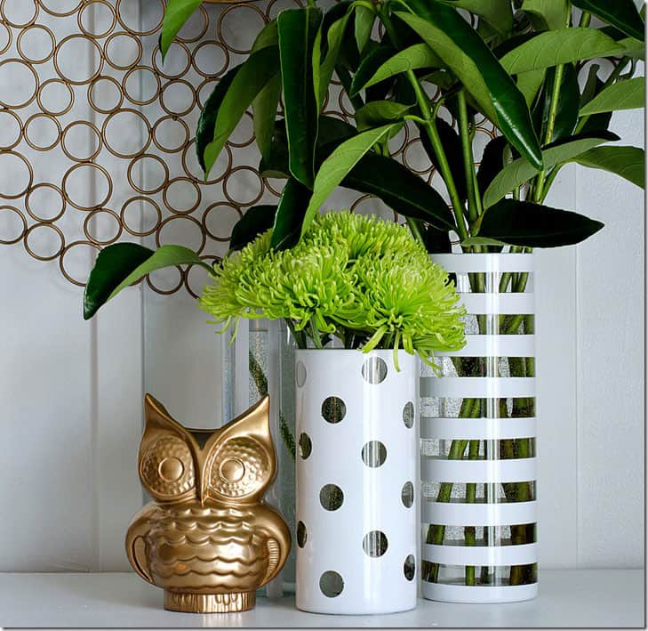 It All Started With Paint- repurpose thrift store vases