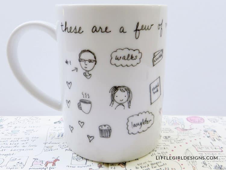 Little Girl Designs- Porcelain painted mug