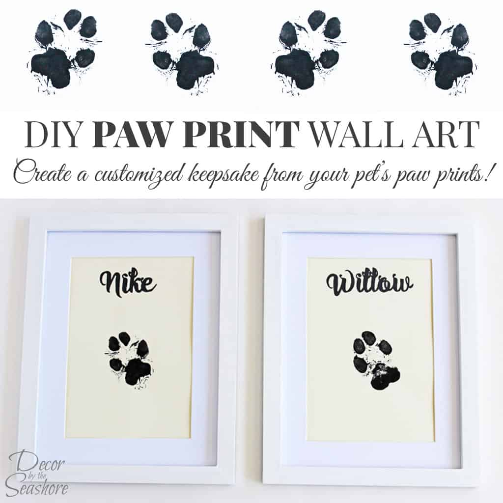 DIY Paw Print Wall Art