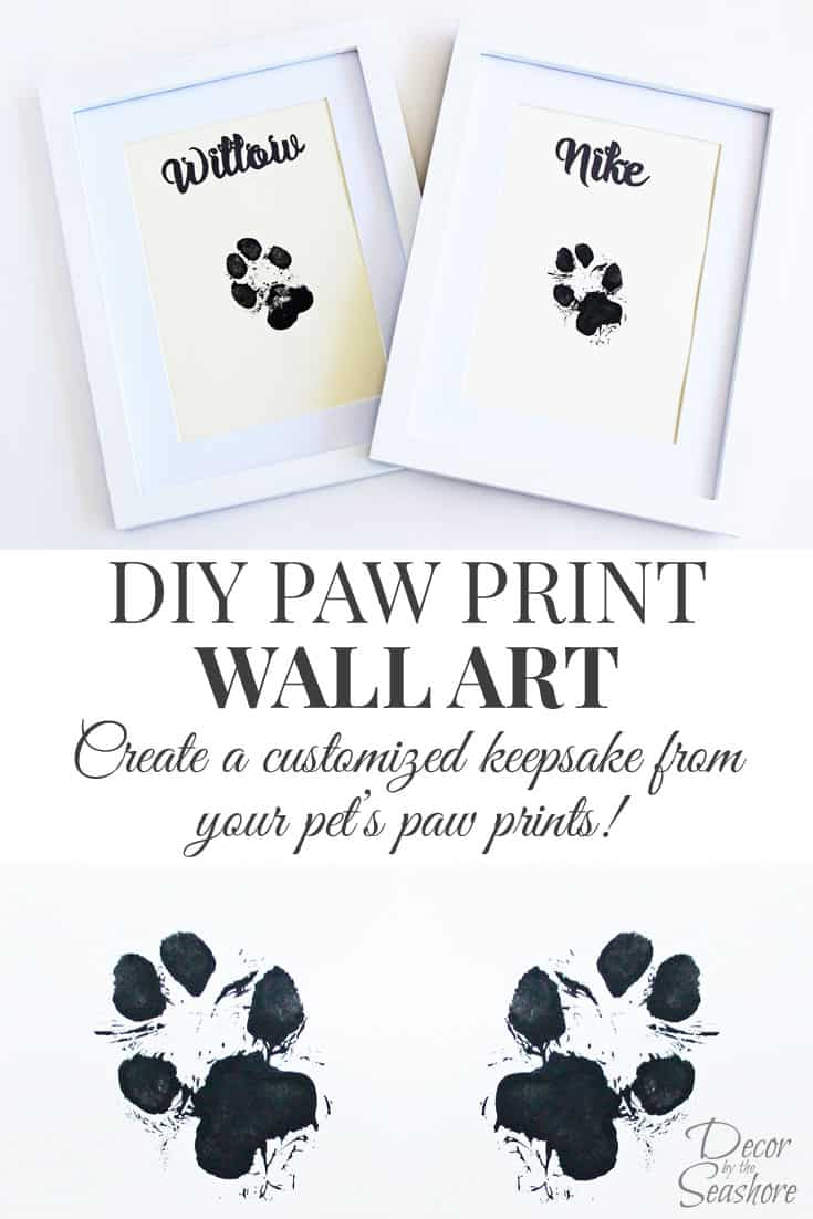 Diy paw print wall art decor by the seashore for I need art for my walls